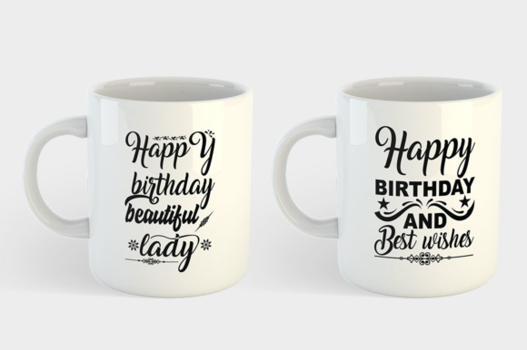 Download Free 10 Happy Birthday Bundle Graphic By Designfarm Creative Fabrica for Cricut Explore, Silhouette and other cutting machines.