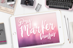 Print on Demand: 12 Dry Marker Brushes - PROCREATE Graphic Brushes By Latin Vibes