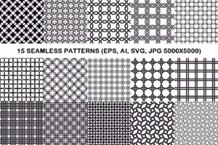 15 Seamless Grid Patterns Graphic Patterns By davidzydd