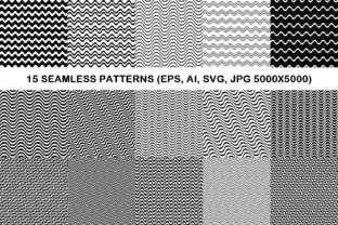 15 Seamless Wave Line Patterns Graphic Patterns By davidzydd