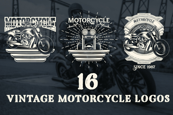 16 Motorcycles Logos and Badges Graphic Graphic Templates By inkwellapp