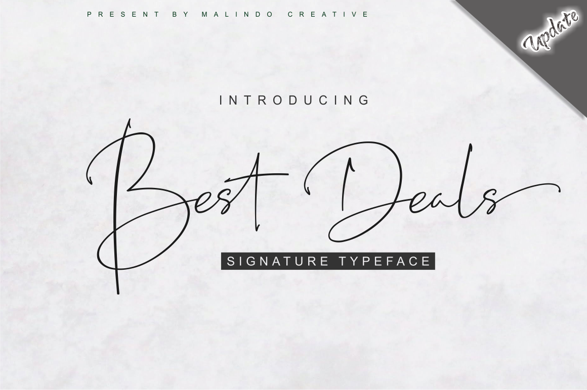 Download Free Best Deals Font By Malindo Creative Creative Fabrica for Cricut Explore, Silhouette and other cutting machines.