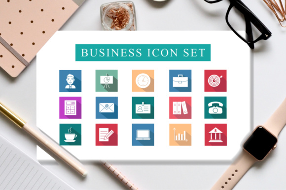 Print on Demand: 2 Varians Business Icon Set Graphic Icons By fanastudio
