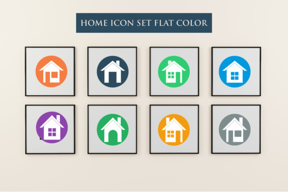 Print on Demand: 3 Variants of Home Icon Set Graphic Icons By fanastudio - Image 3