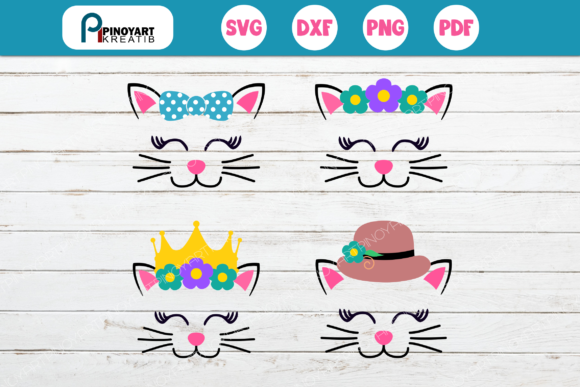 4 Cat SVG Graphic Crafts By Pinoyartkreatib