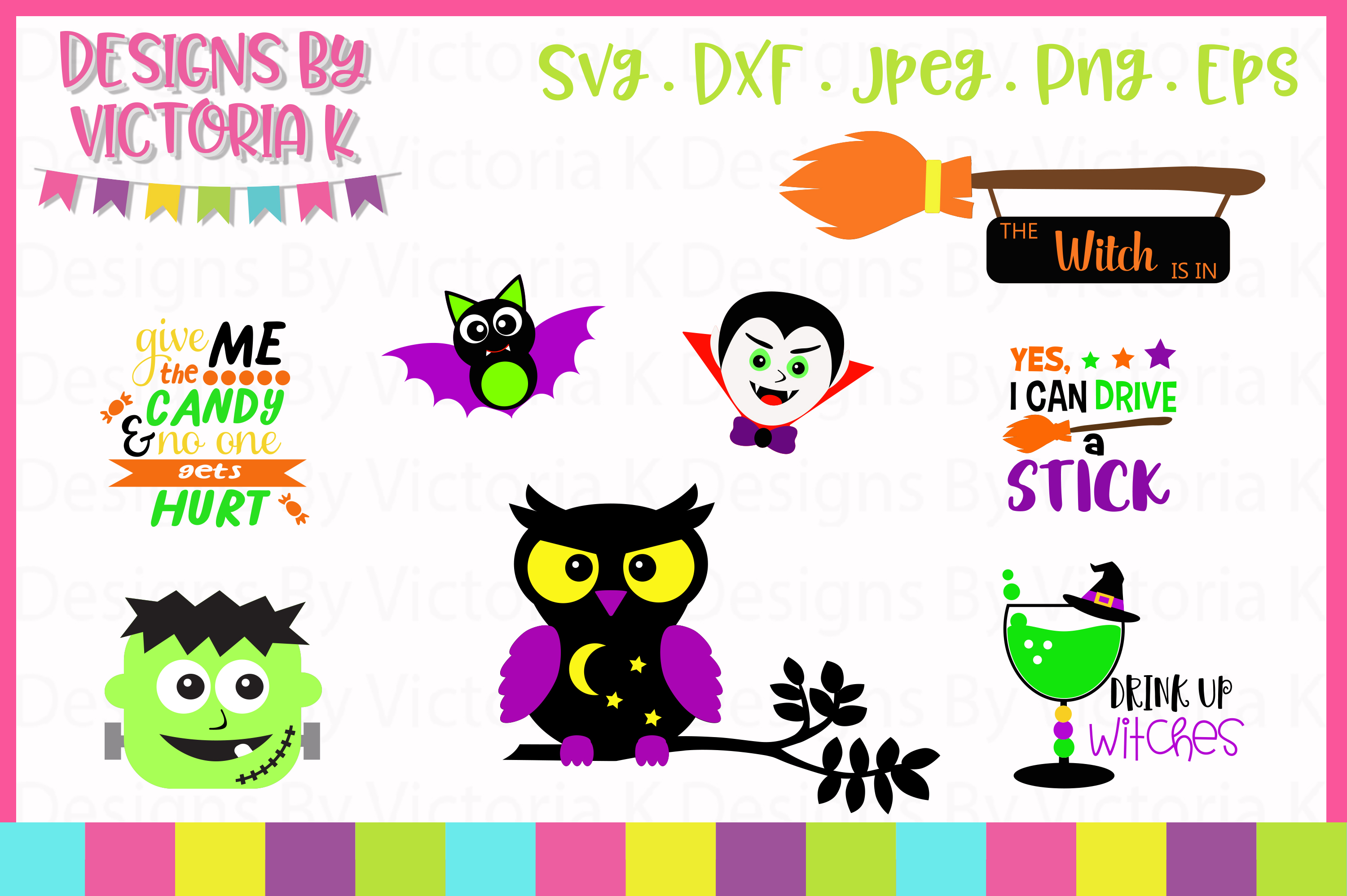 Download Free 8 Halloween Deisgns Svg Graphic By Designs By Victoria K for Cricut Explore, Silhouette and other cutting machines.