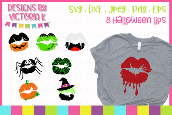 8 Halloween Lips SVG Graphic Crafts By Designs By Victoria K