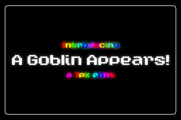 Print on Demand: A Goblin Appears! Display Font By Chequered Ink