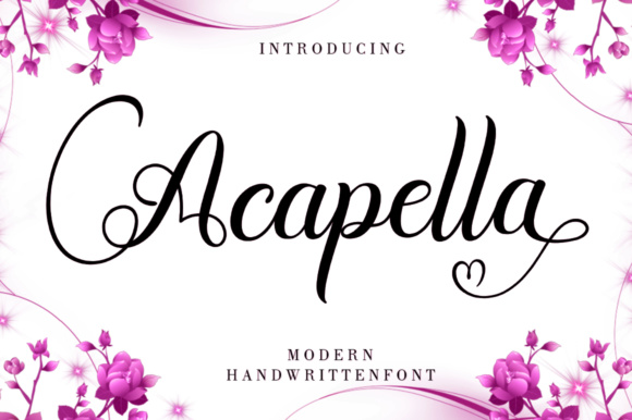 Print on Demand: Acapella Script & Handwritten Font By scoothtype