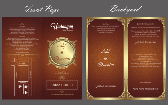 Aceh Wedding Invitation Template