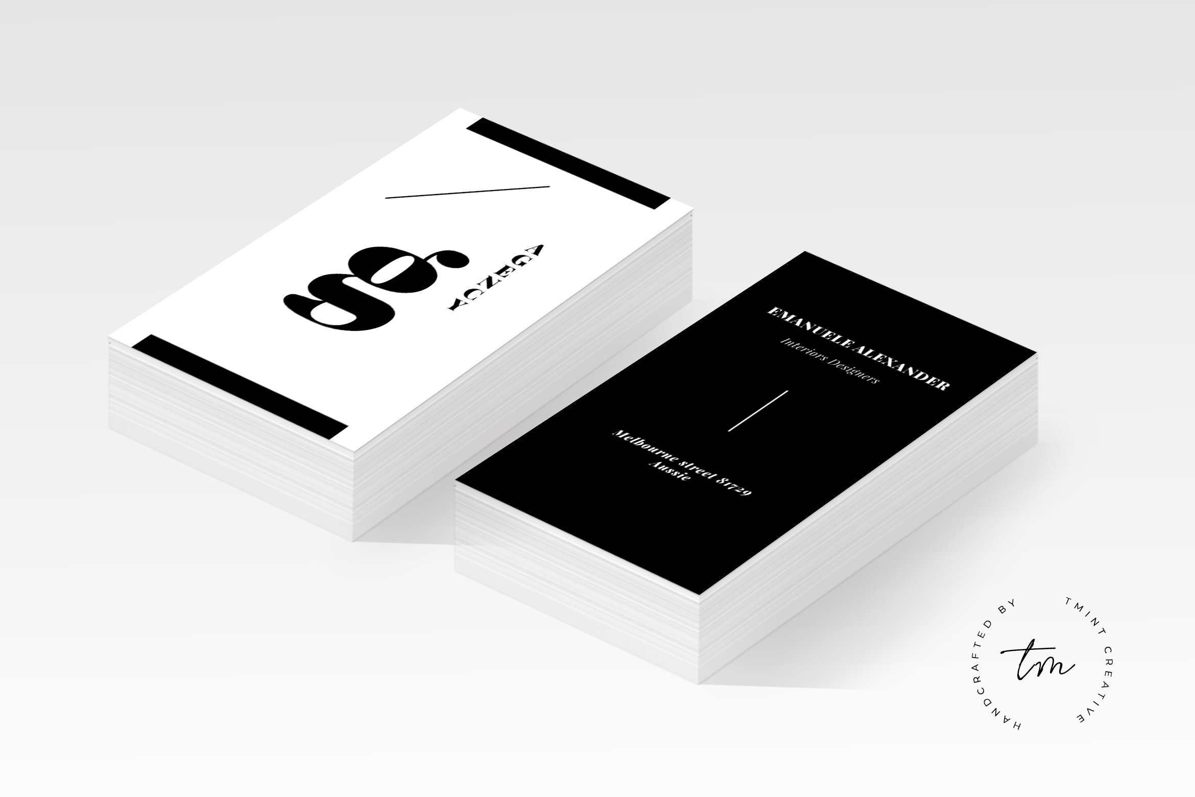 Agency business card graphic by tmint creative fabrica reheart Gallery