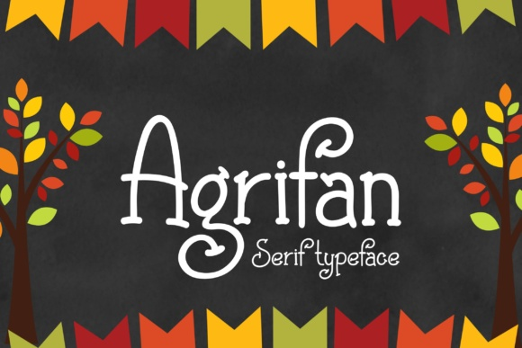 Print on Demand: Agrifan Serif Font By Eva Barabasne Olasz - Image 1
