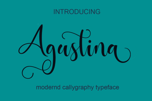 Print on Demand: Agustina Script & Handwritten Font By saidi studio