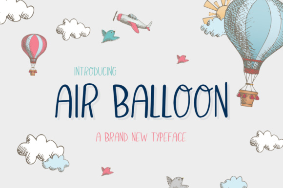 Print on Demand: Air Balloon Display Font By Salt & Pepper Designs