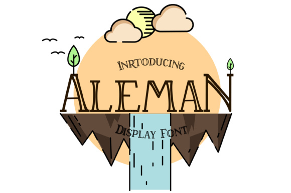 Print on Demand: Aleman Display Font By madhavey