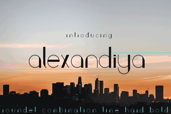 Print on Demand: Alexandiya Sans Serif Font By jehansyah251