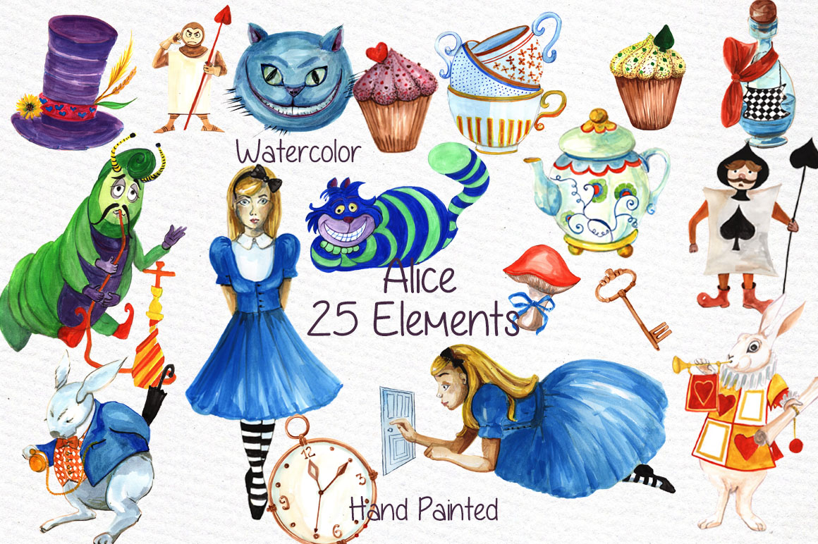 Download Free Alice In Wonderland Clipart Graphic By Vivastarkids Creative for Cricut Explore, Silhouette and other cutting machines.