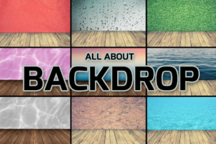 Print on Demand: All About Backdrop Graphic Product Mockups By vito12