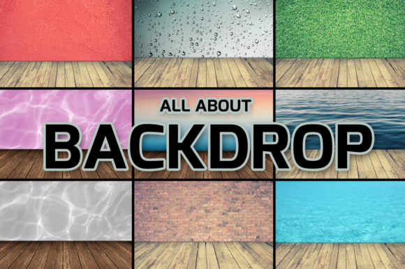 Print on Demand: All About Backdrop Graphic Product Mockups By vito12 - Image 1