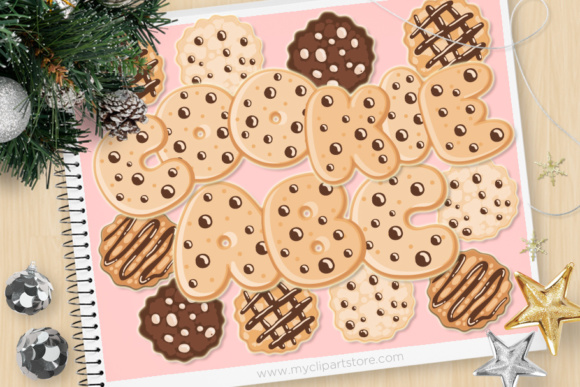 Print on Demand: Alpha Cookies Graphic Illustrations By MyClipArtStore