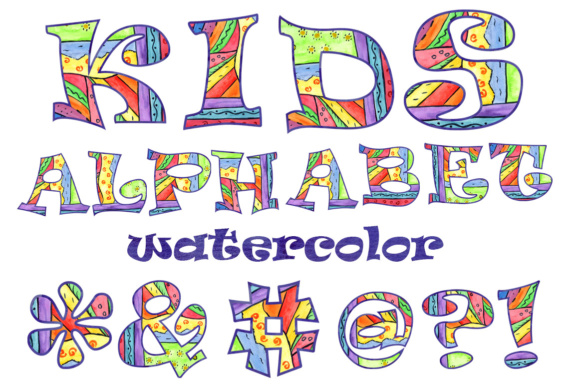 Download Free Kids Alphabet Clipart Graphic By Vivastarkids Creative Fabrica for Cricut Explore, Silhouette and other cutting machines.
