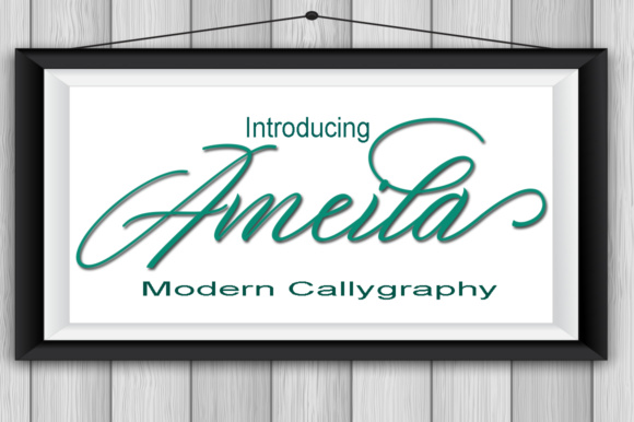 Print on Demand: Ameila Script & Handwritten Font By AsaharStudio