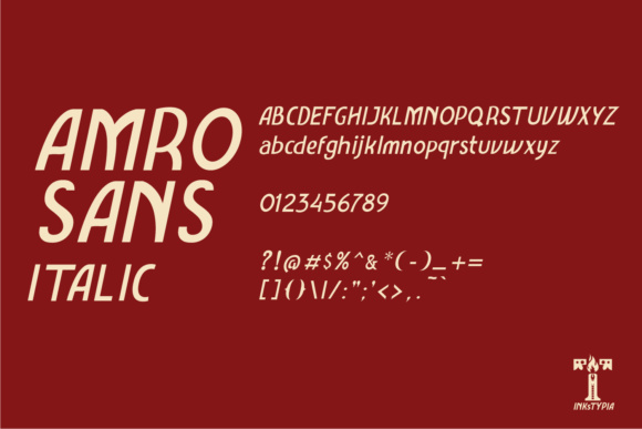Amro Sans Family Font By inkstypia Image 6