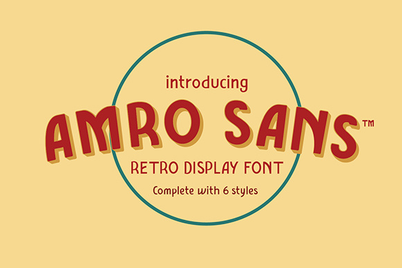 Print on Demand: Amro Sans Family Sans Serif Font By inkstypia