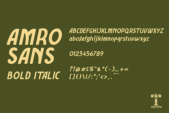 Amro Sans Family Font By inkstypia Image 8
