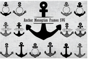 Anchor Monogram SVG Graphic By Best_Store