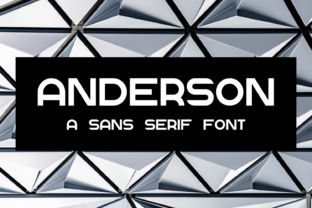 Anderson Font By thorchristopherarisland