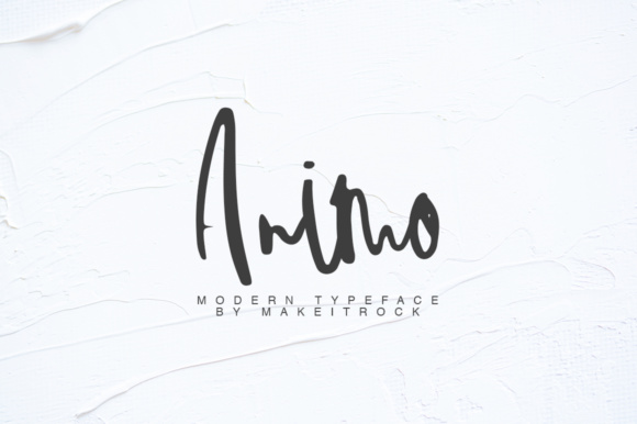 Print on Demand: Animo Script & Handwritten Font By Katie Holland