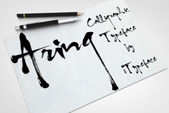 Print on Demand: Aring Script & Handwritten Font By iTypeface