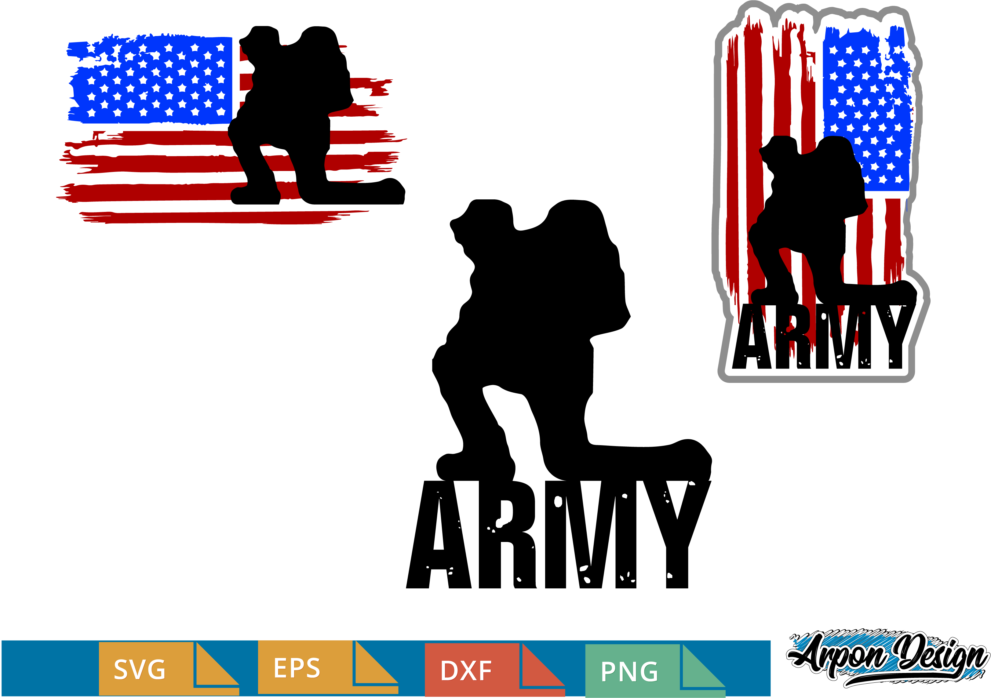 Download Free Army Flag Usa Graphic By Arpondesign Creative Fabrica for Cricut Explore, Silhouette and other cutting machines.