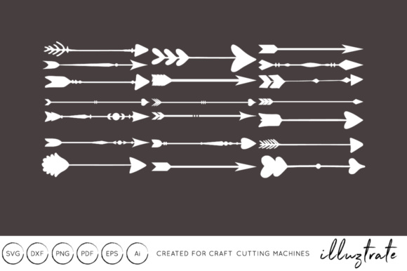 Print on Demand: Arrows SVG Cut File - DXF - Craft Cutting Files Graphic Crafts By illuztrate