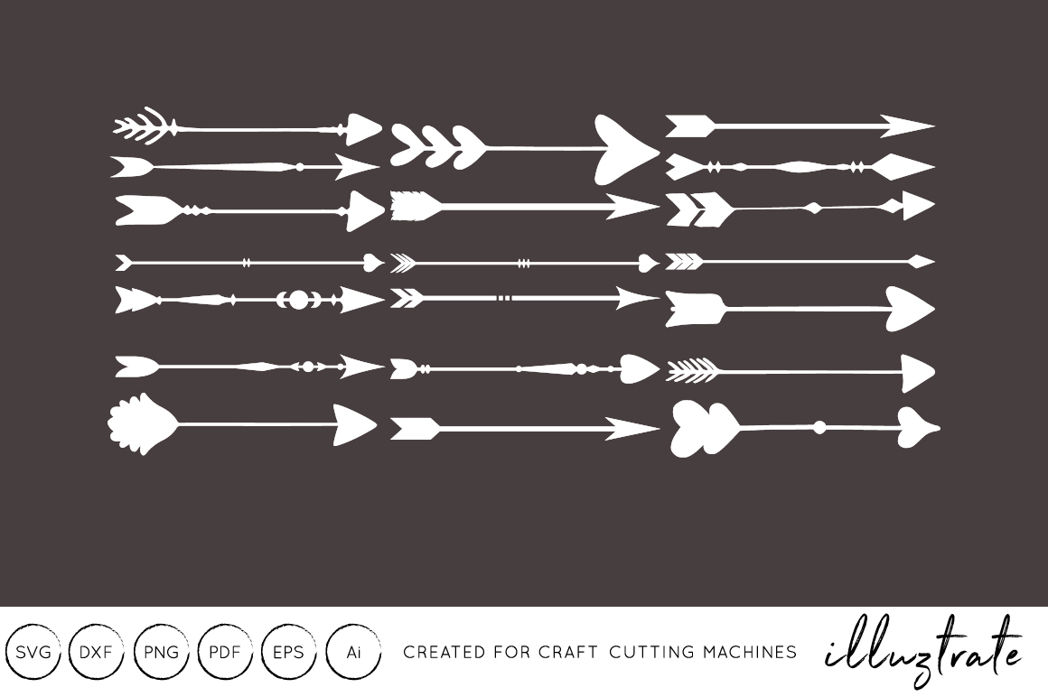 Download Free Arrows Craft Cutting Files Grafico Por Illuztrate Creative for Cricut Explore, Silhouette and other cutting machines.