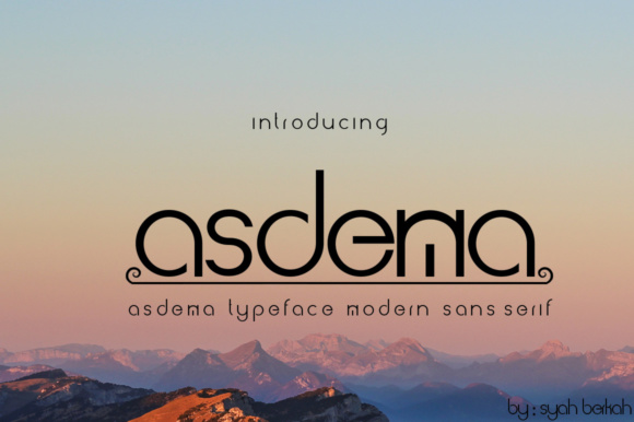 Print on Demand: Asdema Display Font By jehansyah251