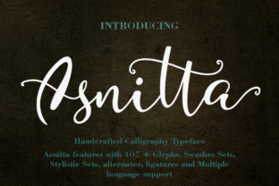 Asnitta Font By YanIndesign