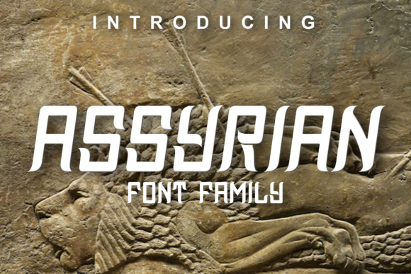 Print on Demand: Assyrian Display Font By vladimirnikolic