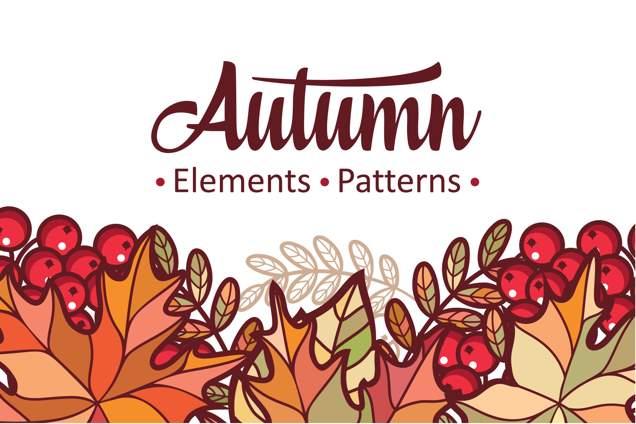 Download Free Autumn Fall Leaf Bundle Seamless Pattern Graphic By Zoyali for Cricut Explore, Silhouette and other cutting machines.