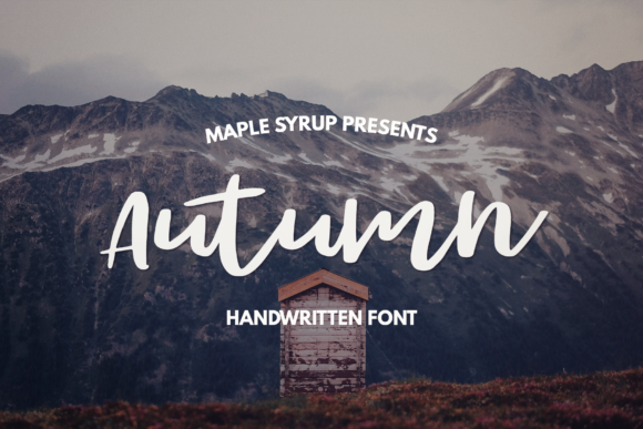 Print on Demand: Autumn Script Script & Handwritten Font By maplesyruptype