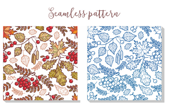 Print on Demand: Autumn Seamless Pattern Graphic Patterns By zoyali