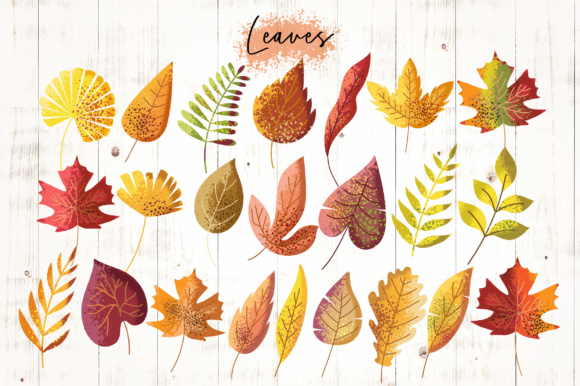 Print on Demand: Autumn Vibes Graphic Objects By Caoca Studios - Image 2