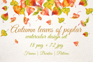 Download Free Poplar Autumn Leaves Watercolor Set Graphic By Mystocks for Cricut Explore, Silhouette and other cutting machines.