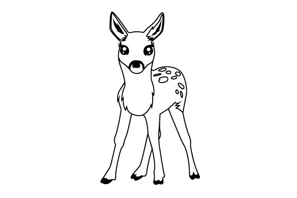 Download Free Baby Deer Svg Cut File By Creative Fabrica Crafts Creative Fabrica for Cricut Explore, Silhouette and other cutting machines.