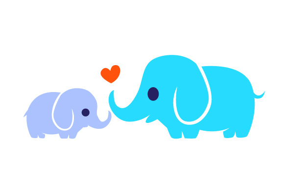 Download Free Baby Elephant With Mother Elephant Svg Cut File By Creative SVG Cut Files
