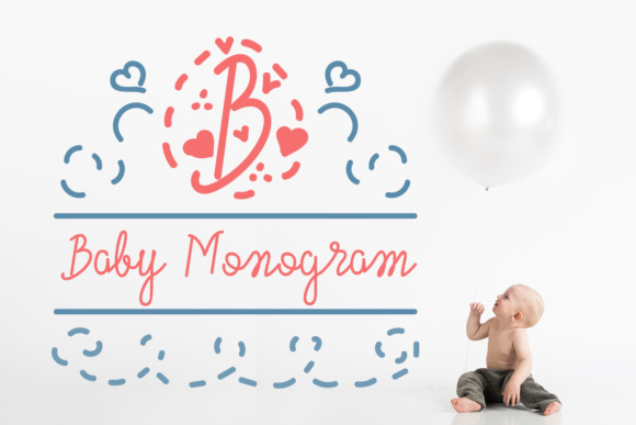Print on Demand: Baby Monogram Script & Handwritten Font By Lickable Pixels