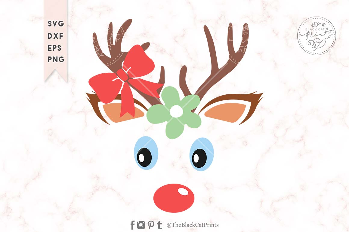 Download Free Baby Reindeer Face Graphic By Theblackcatprints Creative Fabrica for Cricut Explore, Silhouette and other cutting machines.