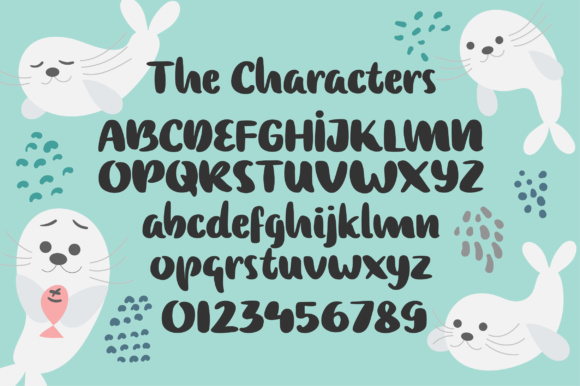 Print on Demand: Baby Seal Script & Handwritten Font By Caoca Studios - Image 2