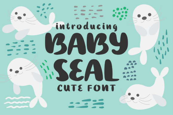 Print on Demand: Baby Seal Script & Handwritten Font By Caoca Studios